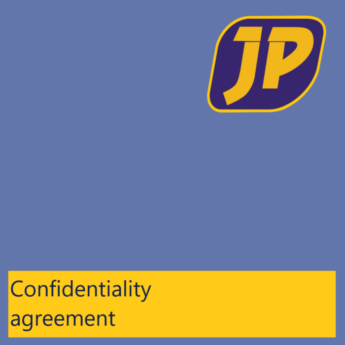 Confidenitality Agreement - jasplastik-en